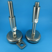 Hygienic Adjustable Levelling feet stainless rubber Base